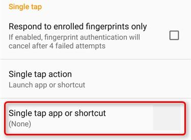 シングルタップ→app、shortcut